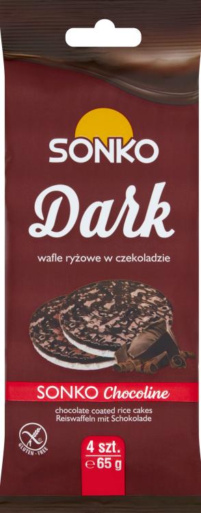 pasteles de arroz oscuro postre de chocolate