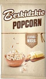 Aksam Popcorn Beskidzki do przyrządzania w kuchence mikrofalowej o smaku masła