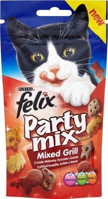Purina Felix Party mix przysmak dla kotów Mixed Grill