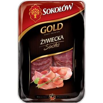 Золото Żywiecka сухой колбасы , нарезанный