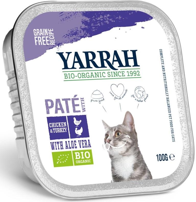 Yarrah pasztet dla kota BIO z kurczaka i indyka z aloesem