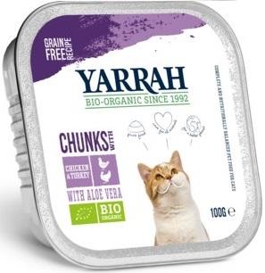 Yarrah dla kota BIO kawałki kurczaka i indyka