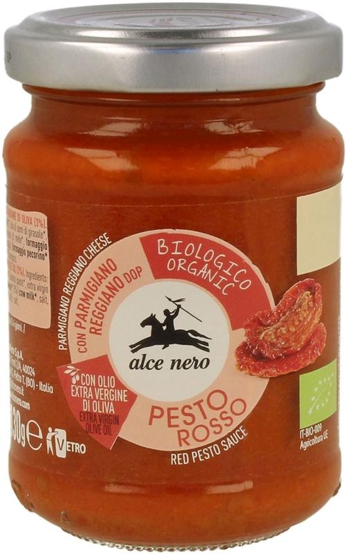 pesto rojo de tomates orgánicos secos
