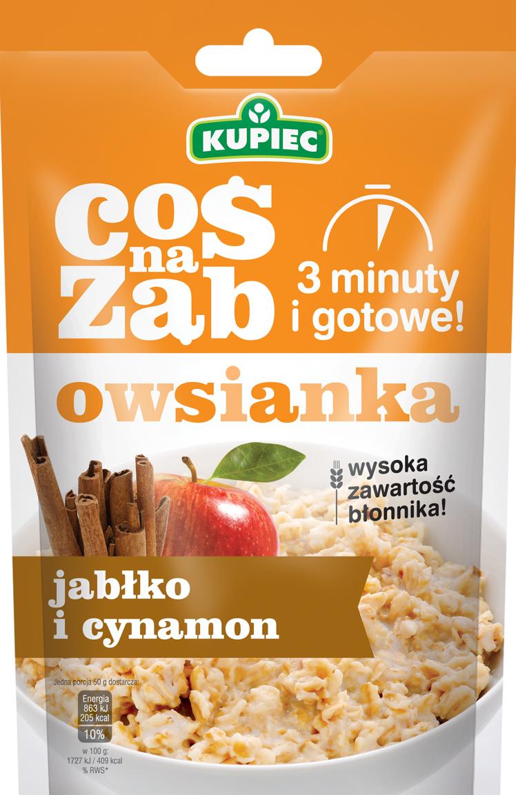 Kupiec Coś Na Ząb Owsianka jabłko i cynamon