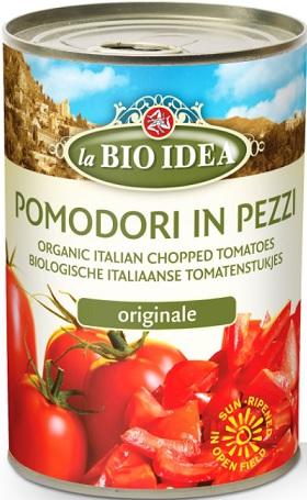 La Bio Idea Pomidory krojone  bez skóry BIO