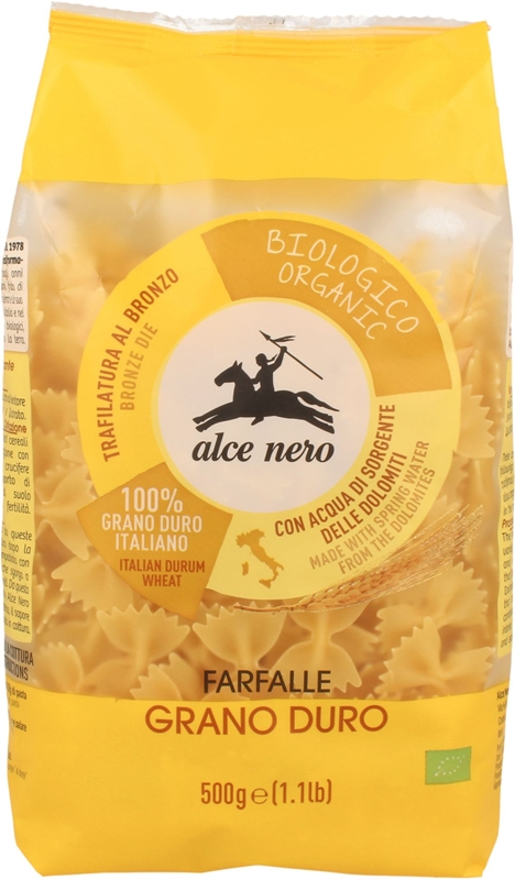 Alce Nero makaron Farfalle semolina BIO