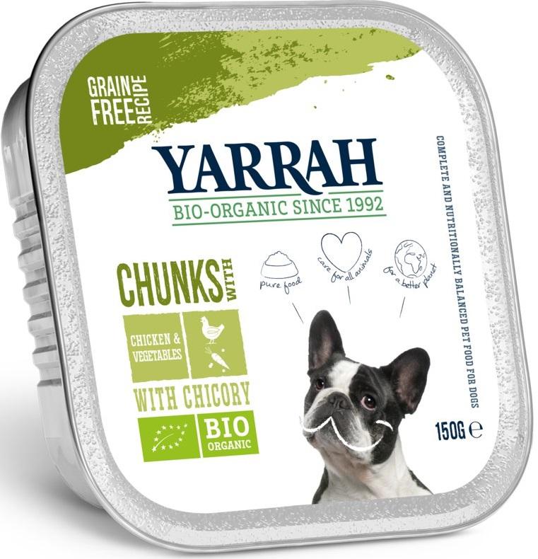 Yarrah kawałki kurczaka z warzywami karma BIO