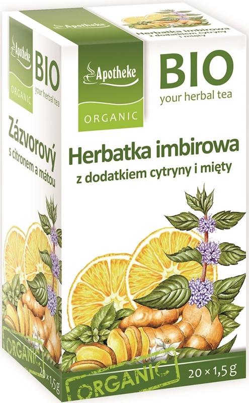 Apotheke herbata imbirowa cytryna z miętą