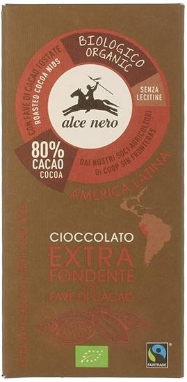 Alce Nero czekolada gorzka z kawałkami kakao BIO