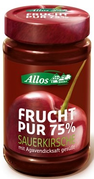 Mermelada de cerezas ( 55 %) BIO 250g - ALLOS