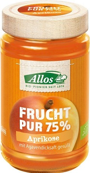 Mermelada de albaricoque ( 55 %) BIO 250g - ALLOS
