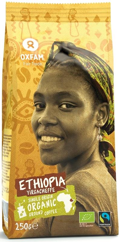 Oxfam kawa mielona Arabica 100% YIRGACHEFFE ETIOPIA FAIR TRADE BIO