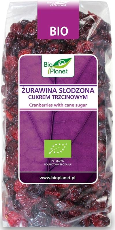 Bio Planet żurawina słodzona cukrem trzcinowym BIO