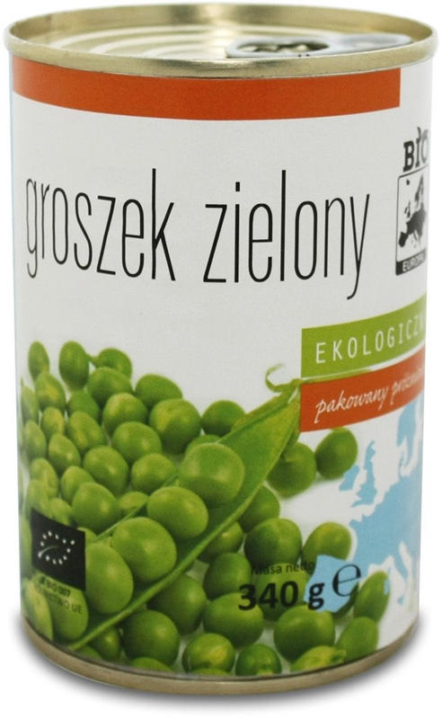 Bio Europa groszek zielony konserwowy BIO