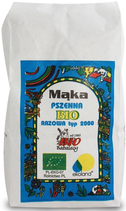 Babalscy Mąka pszenna razowa typ 2000 BIO