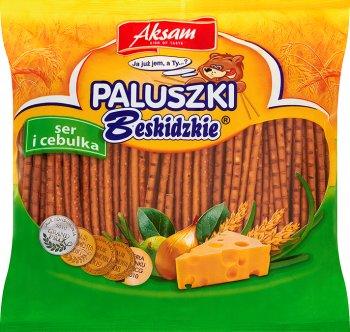 Aksam Beskidzkie bâtonnets de fromage et d'oignons 220 g