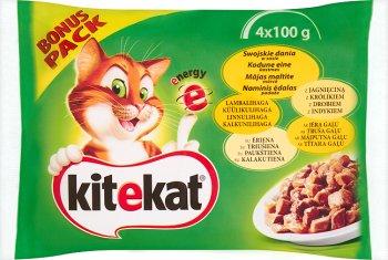 Kitekat Swojskie dania w sosie Karma pełnoporcjowa 4x100 g