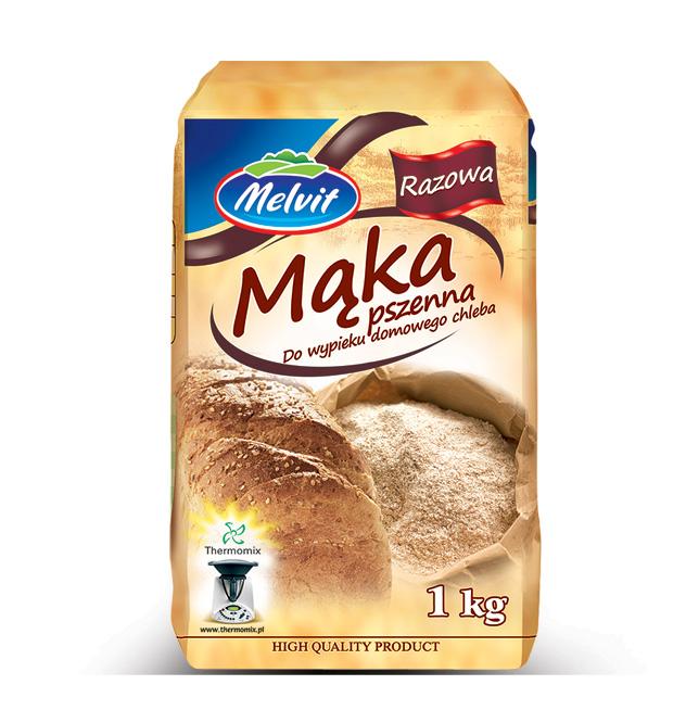 Melvit Mąka pszenna razowa do wypieku domowego chleba TYP 1850
