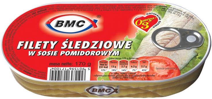 BMC Filety śledziowe w sosie pomidorowym