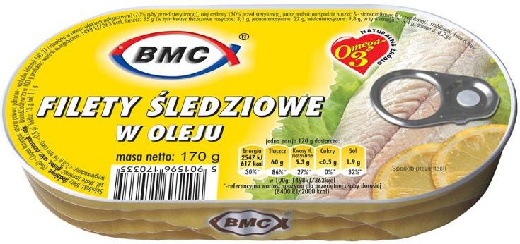BMC Filety śledziowe w oleju