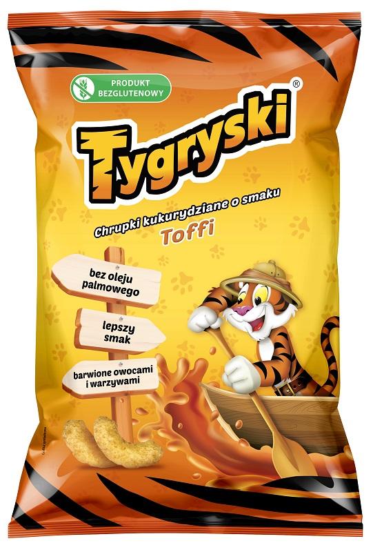 Tygryski chrupki kukurydziane o smaku toffi