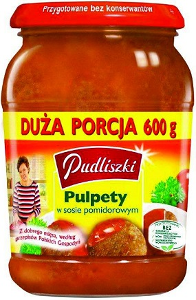 Pudliszki Pulpety w sosie pomidorowym