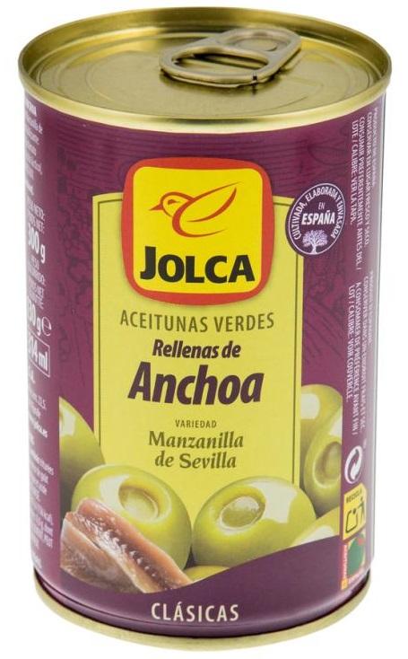 Jolca oliwki zielone drylowane nadziewane Anchois