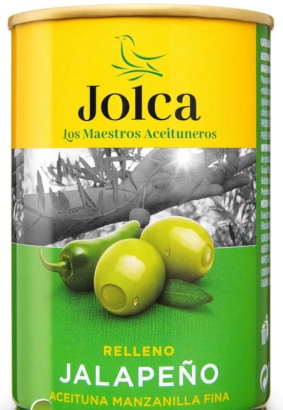 aceitunas verdes deshuesadas rellenas con pimientos jalapeños
