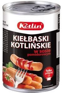 Kotlin Kiełbaski kotlińskie w sosie pomidorowym