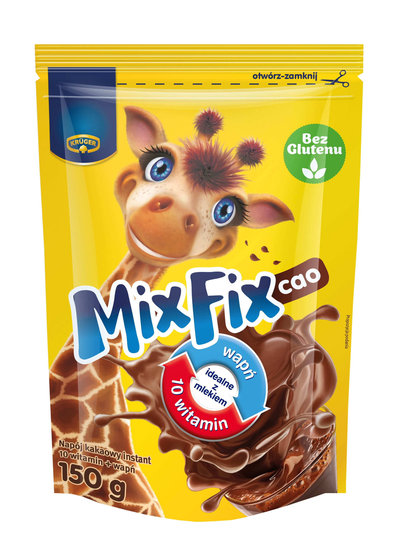 mixfix bebida de cacao instantáneo con calcio y vitaminas