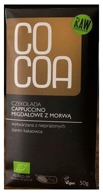 Cocoa czekolada surowa BIO cappucino migdałowe z morwą