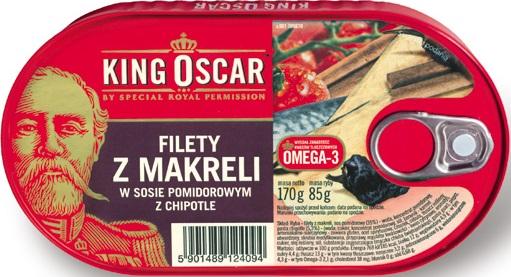 King Oscar Filety z makreli w sosie pomidorowym z chipotle
