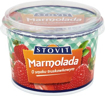 Stovit marmolada z owoców mieszanych o smaku truskawkowym miękka