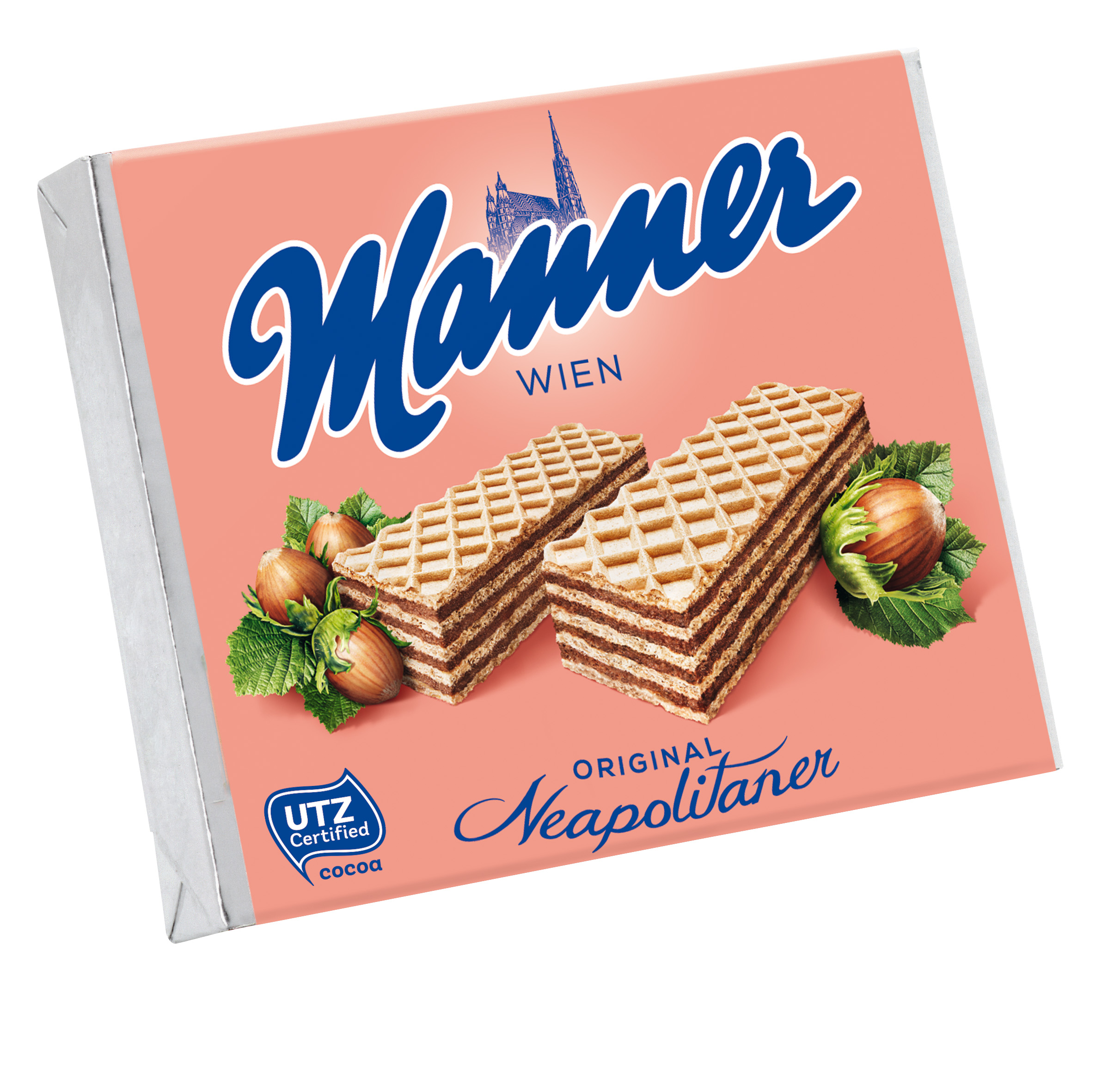 Manner Neapolitaner crispy wafers with nut filling