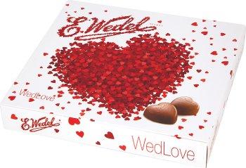 E.Wedel WedLove czekoladki mleczne, praliny serca z dwuwarstwowym nadzieniem