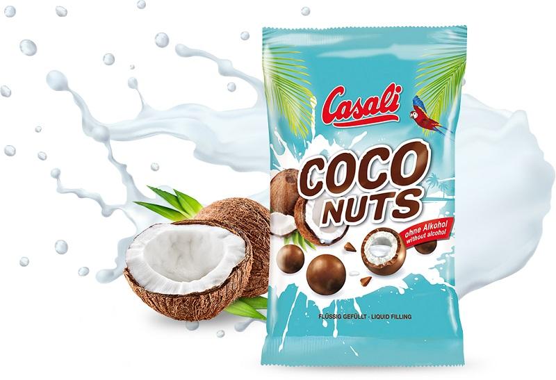 Casali Coco Nueces bebidas azucaradas con relleno de coco