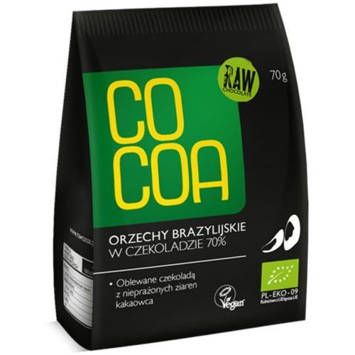 Cocoa orzechy brazylijskie w surowej czekoladzie 70% BIO