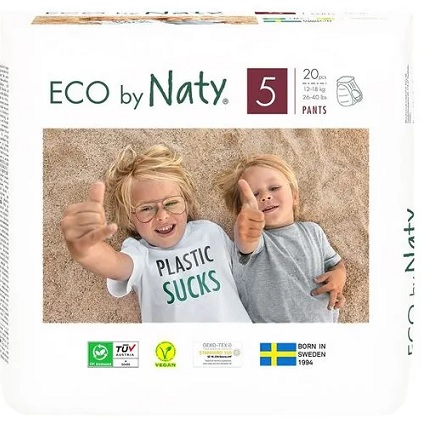 Naty ekologiczne pieluchomajtki jednorazowe no.5 (12-18kg.)
