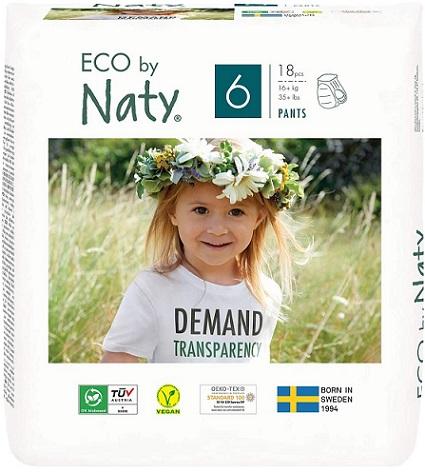 Naty ekologiczne pieluchomajtki jednorazowe no.6 (16+kg.)