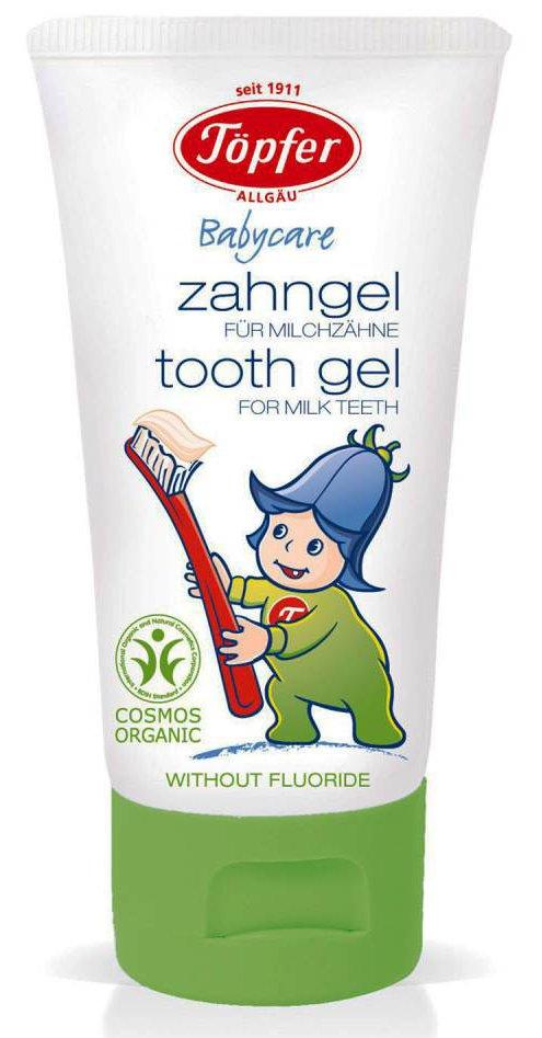 Topfer żel do mycia zębów mlecznych dla dzieci wzbogacony ekstraktem nagietka z upraw ekologicznych