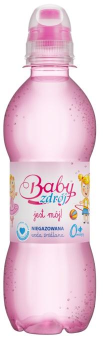 Baby Zdrój woda niegazowana dla dziewczynki