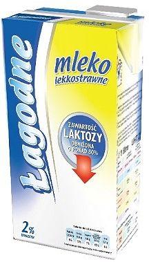 Polmlek Łagodne mleko UHT 2% bez laktozy Polmlek