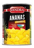 Sandra Ananas kostka w lekkim syropie