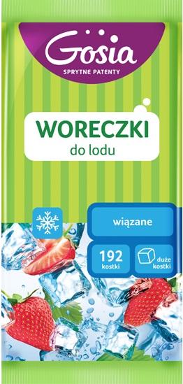 Bolsas de hielo Gosia atadas 192 cubos.