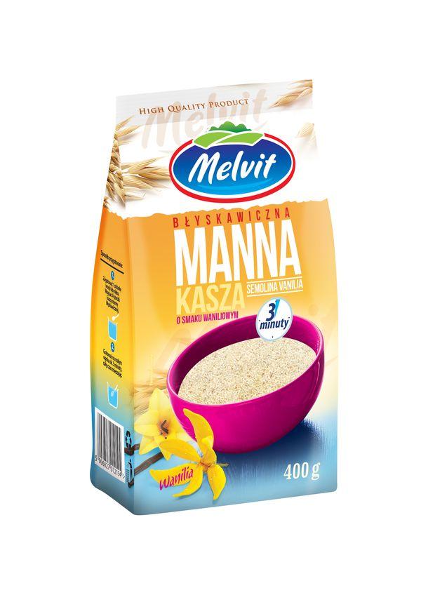 Melvit Kasza Manna błyskawiczna o smaku waniliowym