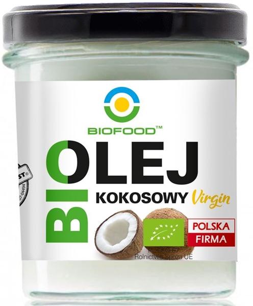 BIO FOOD Premium ekologiczny olej kokosowy BIO virgin