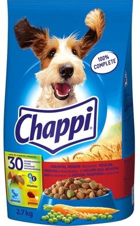 Chappi z wołowiną i drobiem Karma pełnoporcjowa 2,7 kg