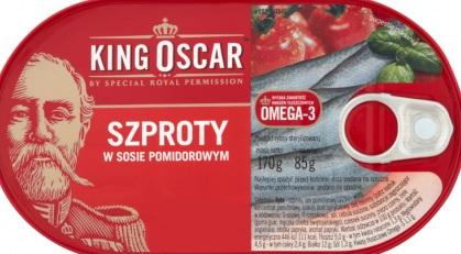 King Oscar sprats in tomato sauce