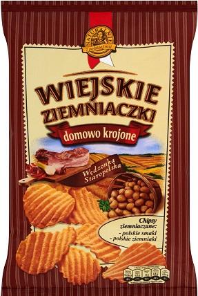 Wiejskie Ziemniaczki chipsy ziemniaczane Wędzonka staropolska