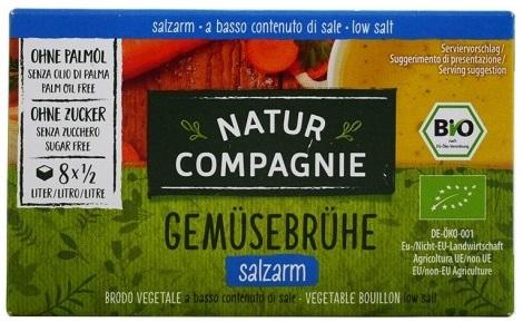 Natur Compagnie Bulion-kostki rosołowe o obniżonej zawartości soli BIO